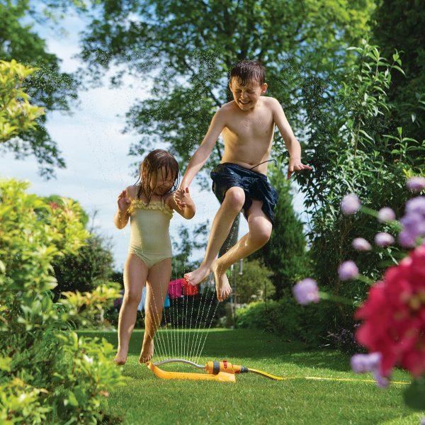 Hozelock Aquastorm 17 Oscillating Garden Water Hose Sprinkler 2974 Lawn Watering